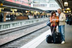Couple at station image